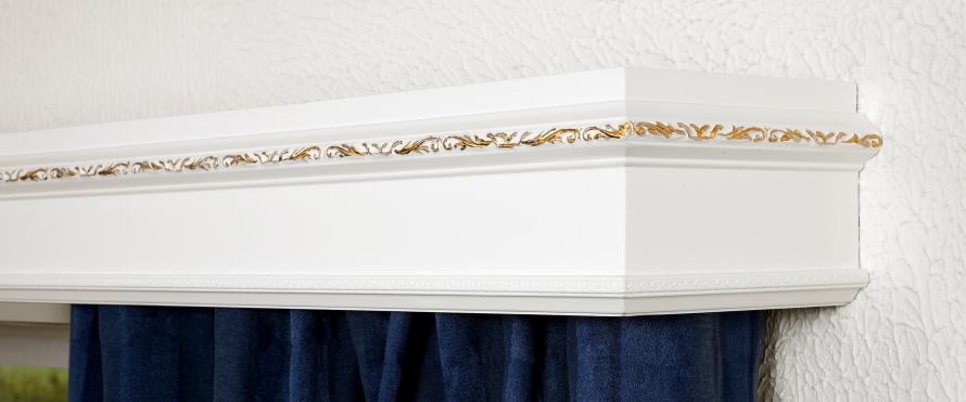 K furu ornament guld 11cm hörn-2liten